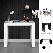 Furnish 1 Einrichten 1 Ausziehbar Platzsparend Modern Weiß Glänzend