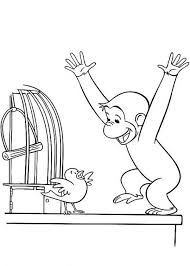 Curious George Coloring Pages Free Jokingartcom Curious George