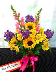 garden bouquet. NEXT DAY DELIVERY Fiesta Garden Bouquet With Sunflowers (V-1041)