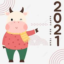 Forecasts, signs, colors, dishes, how to celebrate. Chinese New Year 2021 Celebrate New Year Cute Cow 2021 Cattle Year Of The Ox Png Transparent Clipart Image And Psd File For Free Download