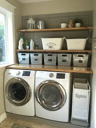 Very Small Laundry Room Laundry Room Makeover Wood Counters Walmart Tin Totes Pull Out