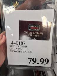 photo of costco honolulu hi united states ruth s chris gift cards are