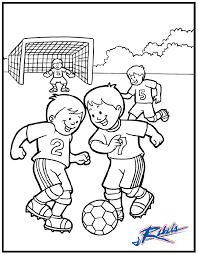Soccer Coloring Pages For Kids