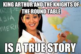 king arthur and the knights of the round table is a true story