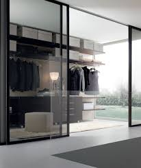view in gallery chic sliding glass doors for the modern walk in closet