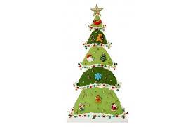 Nicole Crafts Mini Ornament Wood Lighted Tree