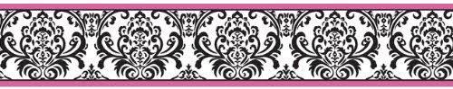 Amazon Com Sweet Jojo Designs Hot Pink Black And White Isabella