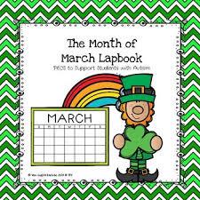 March Calendar Pecs Lapbook Anchor Charts