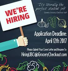 Looking For A Job On Campus Join Our Grocery Checkout Ubc