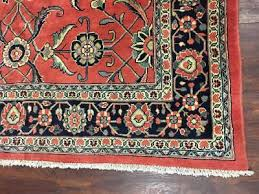vintage 7x8 persian mahal area rug hand knotted oriental wool carpet 7 x 8 6
