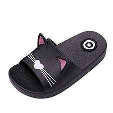4 Year Old Shoe Size Chart Baby Girls Boys Kids Home Slippers Slides For 4 12 Years Old Child Cartoon Cat Floor Family Shoes Beach Sandals