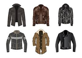 free leather jacket vector