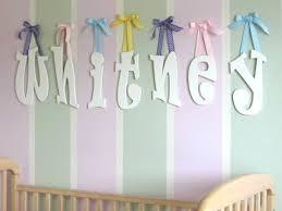 hanging wooden letters font ravie cn color white ribbon polka