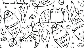 Pusheen Unicorn Coloring Pages At Getcoloringscom Free Printable