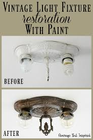 an old light fixture from the 1920 s was red with paint learn how to create