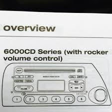 genuine ford 6000 cd radio rocker volume controls operating genuine ford 6000 cd radio rocker volume controls operating manual book