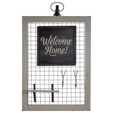 Rustic Country Wood Wire Chalkboard Wall Organizer with Jewelry Wall Key  Rack Hooks - Free Shipping Today - Overstock.com - 24221778