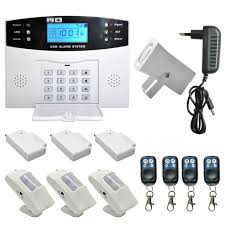 wireless lcd gsm sms burglar fire alarm system diy installation