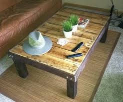 coffee table out of a wooden pallet