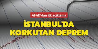 İstanbul'da 3,9 büyüklüğünde bir deprem meydana geldi! Son dakika deprem  haberleri