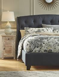 tufted bedroom furniture. Kasidon Queen Tufted Bed, Dark Gray, Large Bedroom Furniture