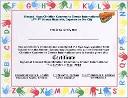 Vbs Certificate Template 29 Images Of Blank Certificate Template Format Vbs Dinapix Net