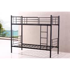 Stylish Single Sturdy Black Metal Bunk Bed Frame Heavy Duty Quidin