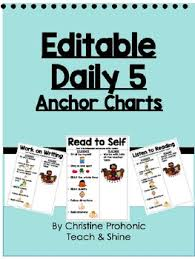 Daily 5 Anchor Charts 2nd Grade Daily Five Stamina Chart Worksheets Teaching Resources Tpt