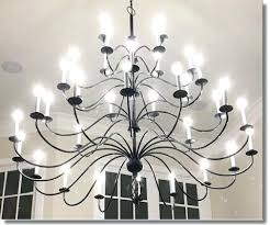 rod iron chandeliers ace wrought iron custom large light four tier twisted basket wrought iron chandelier