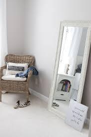 Getting Ready Corner, Modern Farmhouse Master Bedroom, IKEA Wicker Chair