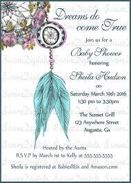 Dream Catcher Baby Shower Invitations Dream Catcher Baby Shower Invitation Native American Themed Baby 93