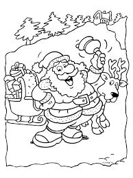 Kleurplaat Aardige Kerstman Met Slee Kleurplatennl Color Me