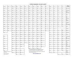 True Copic Color Chart Hex Copic Hex Chart Pdf Copic Marker