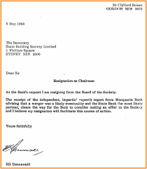 Resignation From Board