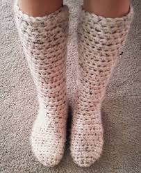 Free Crochet Pattern Slippers Cuffed Boots