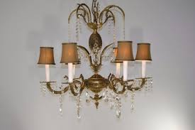 french style lighting. ANTIQUE-6-ARM-FRENCH-STYLE-BRASS-CUTT-GLASS- French Style Lighting G