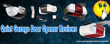 quiet garage door opener