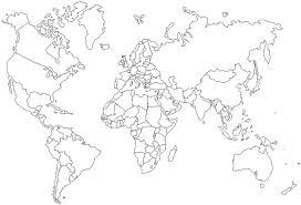 Blanco Wereldkaart Klimaatzones Intekenen Kringloop En Evenwicht