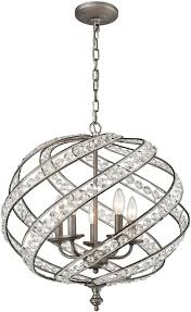 elk 16253 5 renaissance weathered zinc mini hanging chandelier loading zoom