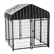 lucky dog pet resort wire dog fence kennel w cover 4 l