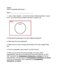 Amdm Venn Diagram Worksheet Answers Fillable Online Unit 2 Probability Worksheet 1 Fax Email Print