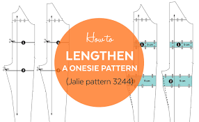 Adult Onesie Pattern Adorable How To Lengthen A Onesie Pajama Pattern Jalie 48 YouTube