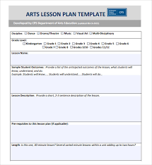 sample lesson plan outline sample art lesson plan 7 documents in pdf
