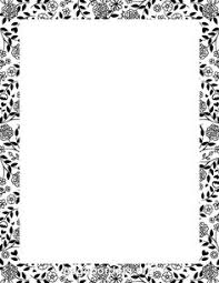 word for black and white black and white page borders collection 49