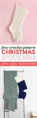 Crochet Christmas Stocking Pattern Adorable Crochet Christmas Stocking Free Crochet Pattern Persia Lou