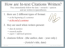 Writing Academic Papers Using Citations References Ppt Download