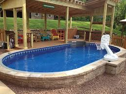 some local pool companies take any cheap they sell and offer them as semi inground pools inground tulsa c82