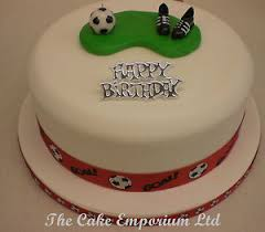 Football Boots Ball Birthday Cake Topper With Birthday Motto And