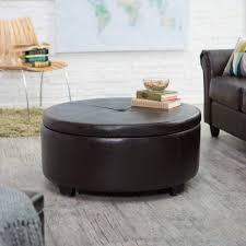 oval leather ottoman. Exellent Leather Wood Coffee Table Legs Square Upholstered Storage Ottoman  With Trays Faux Leather Oval  A
