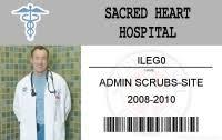 - Бейджик сотрудника <b>Sacred Heart</b> 1-8 и 9 сезонов - <b>Клиника</b> ...